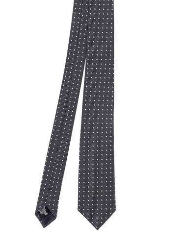 Picture of EMPORIO ARMANI | Men's Dotted Silk Tie