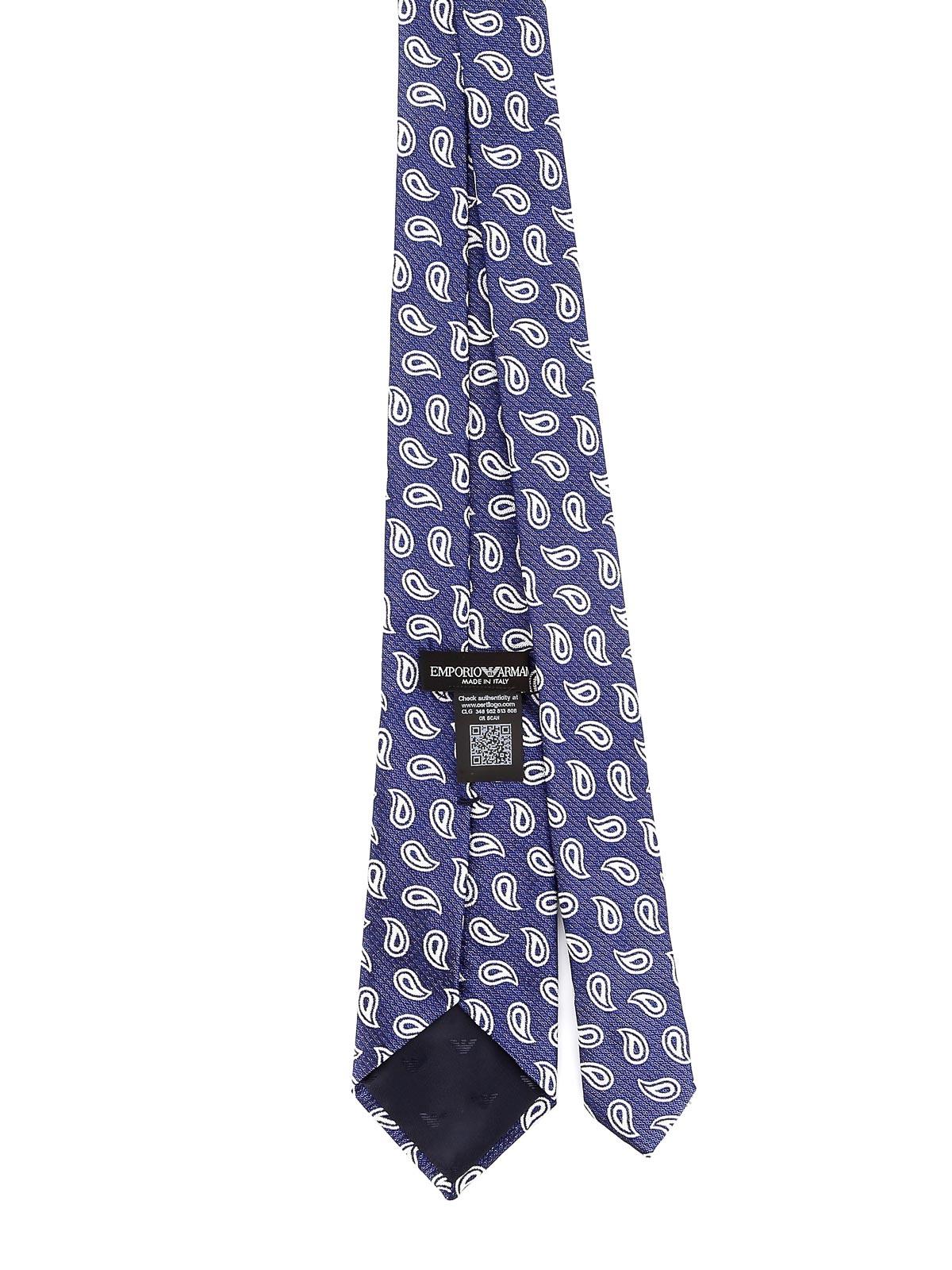 Immagine di EMPORIO ARMANI   Cravatta Uomo in Seta Paisley