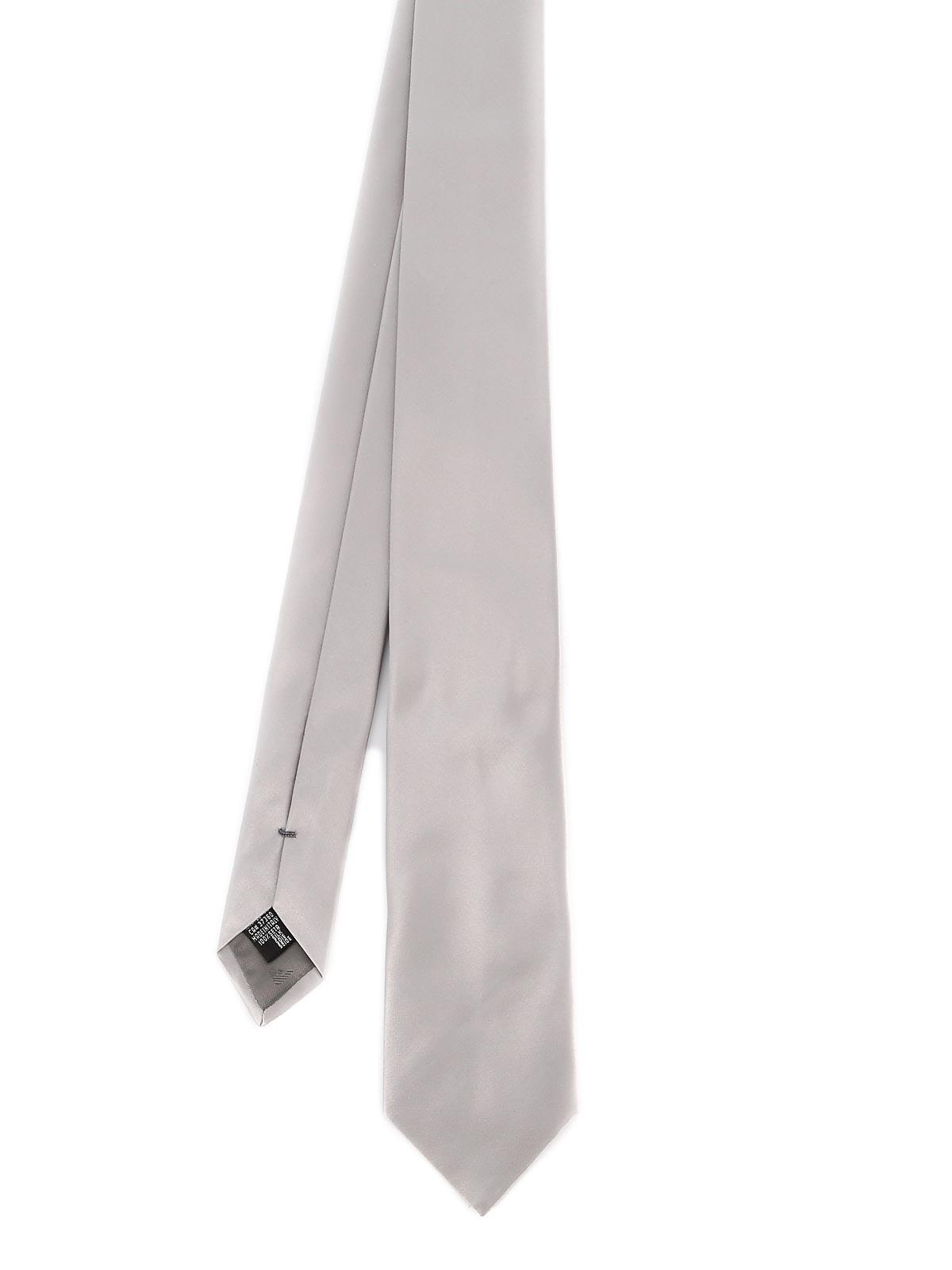 Picture of EMPORIO ARMANI | Men's Silk Satin Tie