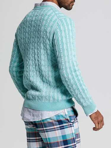 Picture of GANT | Men's Cable Crew Sweater