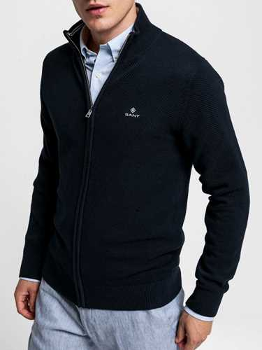 Picture of GANT | Men's Cotton Piqué Zip Cardigan