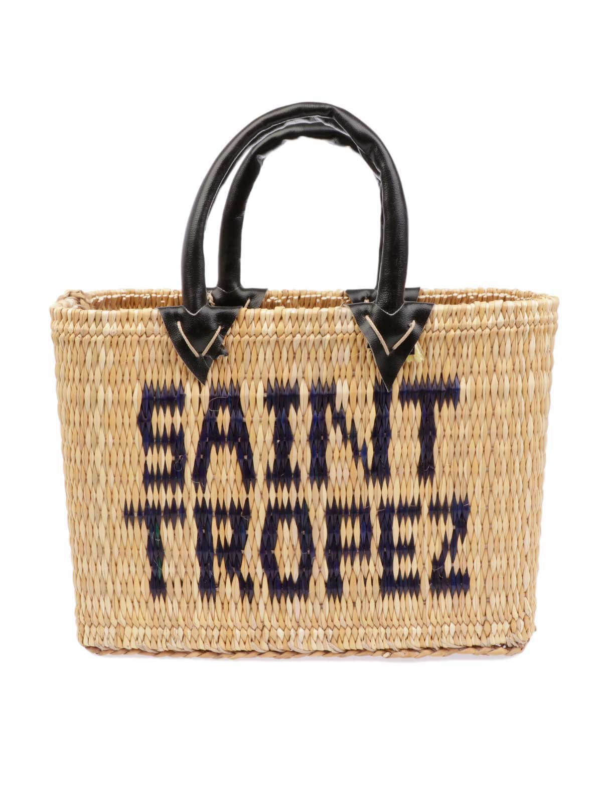 Picture of PINK MEMORIES | Women's Saint Tropez Mini Straw Bag