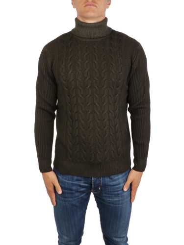 Picture of ALTEA | Men's Wool Cable Turtleneck Sweater