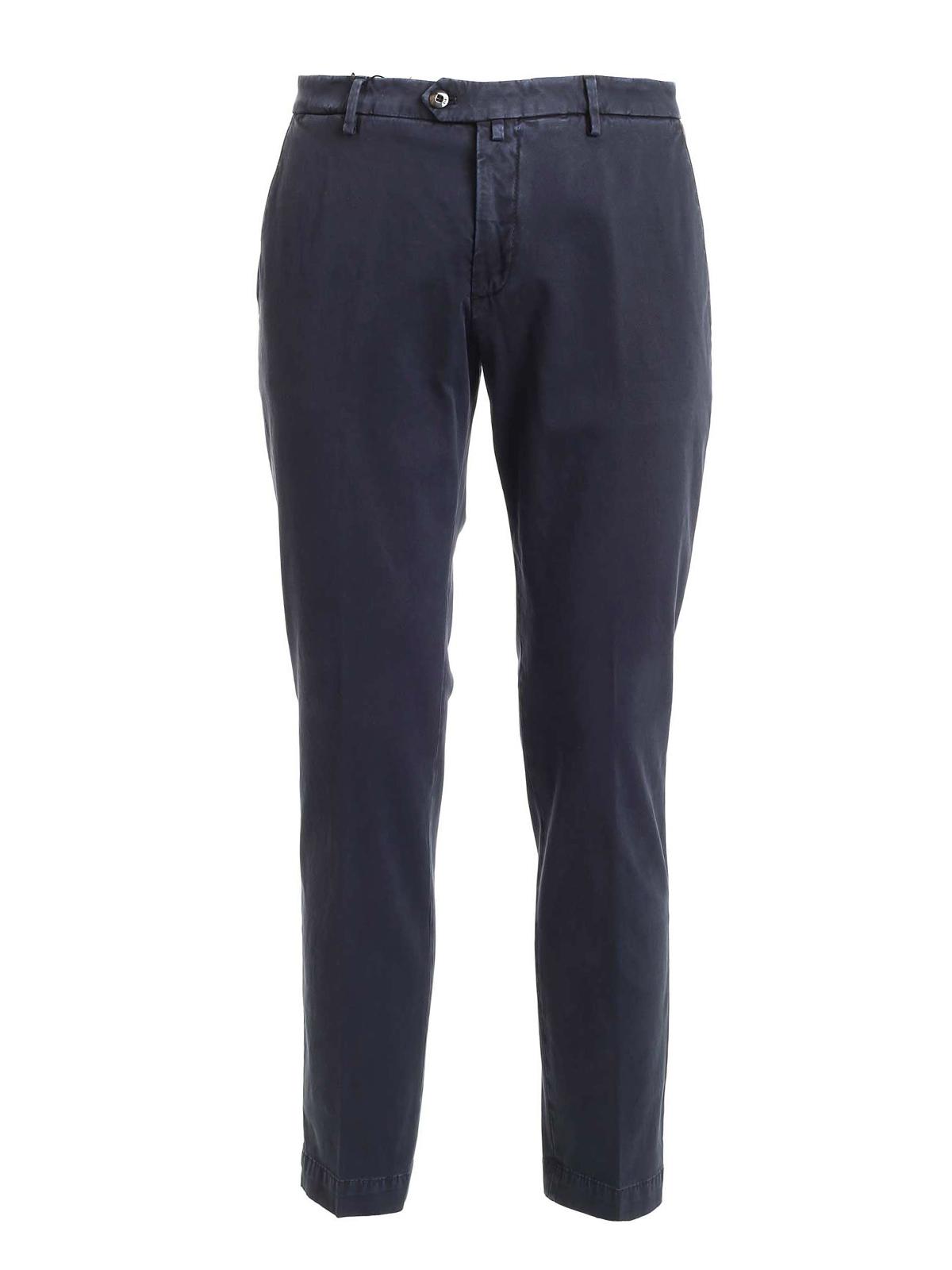 Picture of BRIGLIA 1949 | Men's Stretch Cotton Slim Trousers