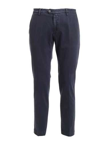 Picture of BRIGLIA 1949 | Men's Stretch Cotton Slim Trousers