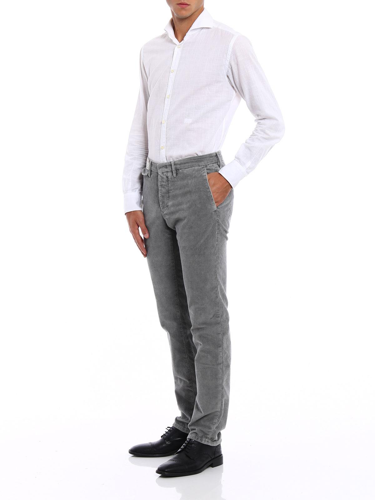 Picture of INCOTEX   Slacks Corduroy Trousers
