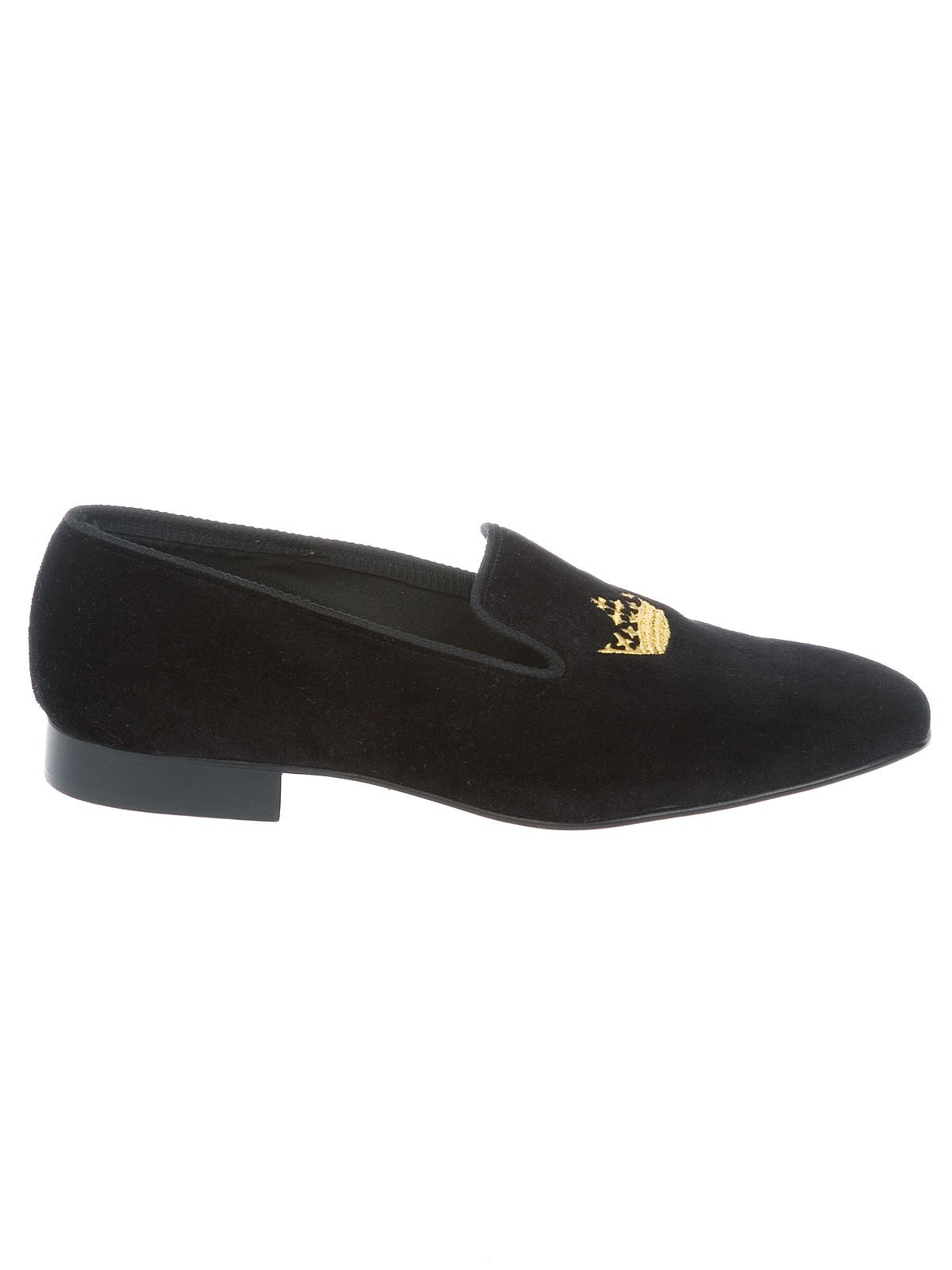 Picture of CHURCH'S | Sovereign Crown Velvet Slipper
