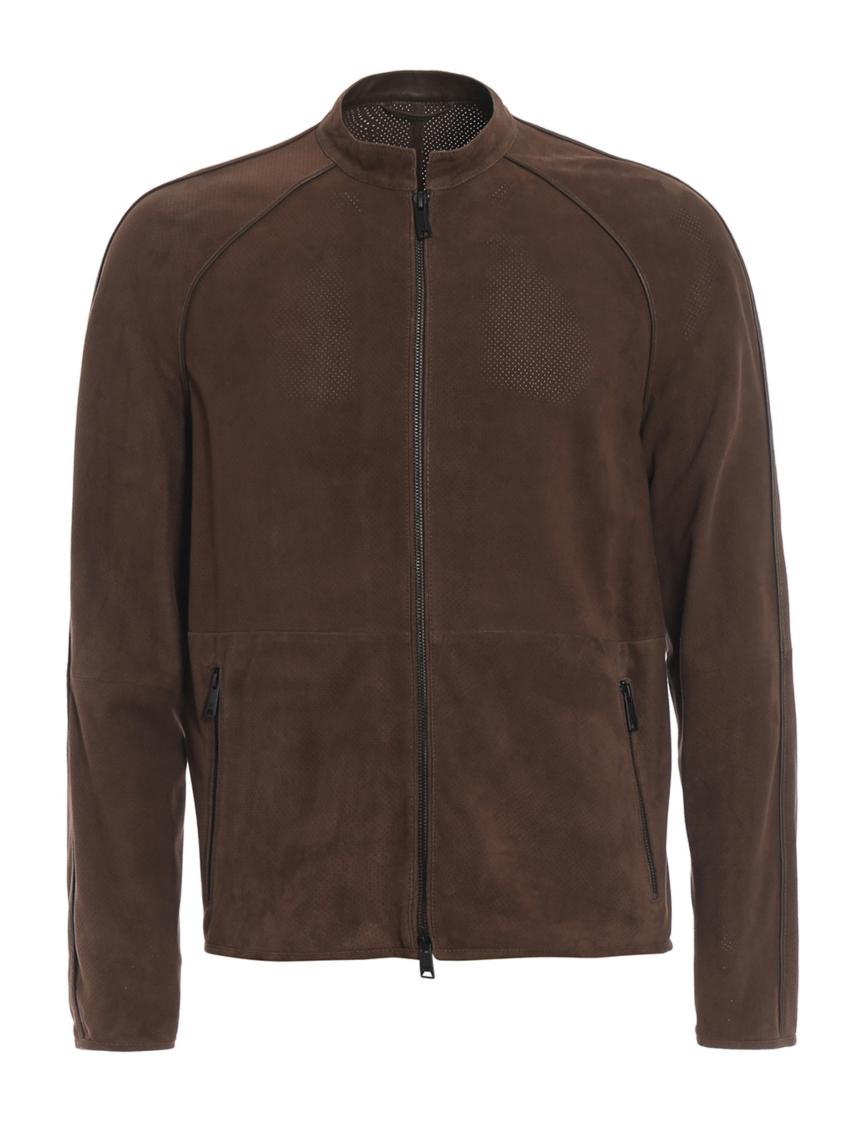 Picture of EMPORIO ARMANI | Men's Perforated Suede Jacket