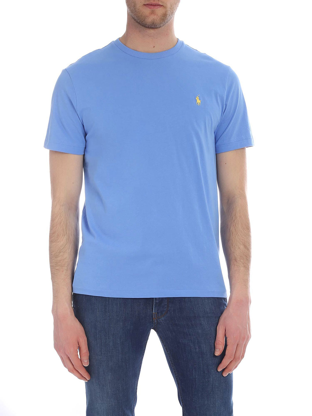 7b5451723 POLO RALPH LAUREN Men s Custom Fit T-Shirt Island Blue ...