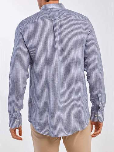 Picture of GANT | Camicie THE LINEN STRIPE REG BD