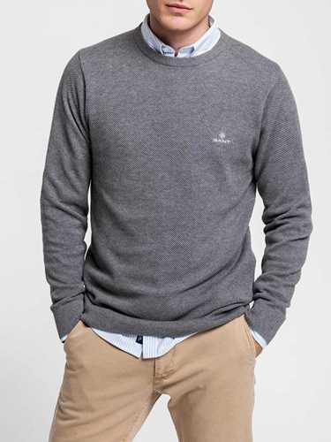 Picture of GANT | Men's Cotton Piqué Crewneck Jumper