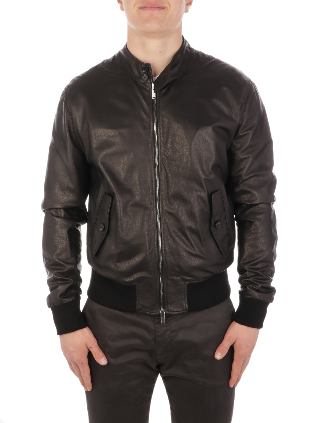 Picture of TAGLIATORE | Men's Colby Leather Jacket