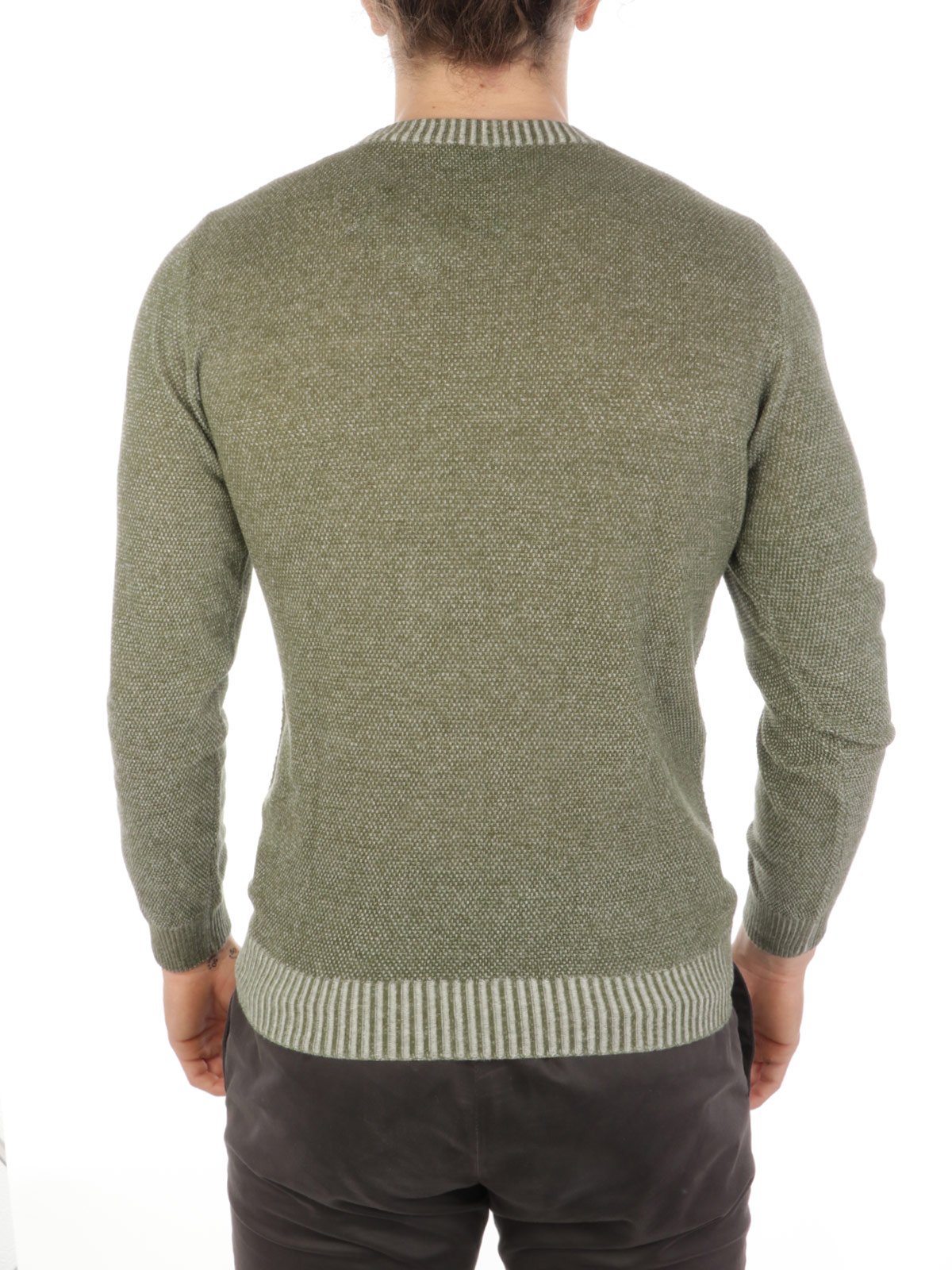 Picture of BROOKSFIELD | Men's Cotton Moss Stitch Sweater
