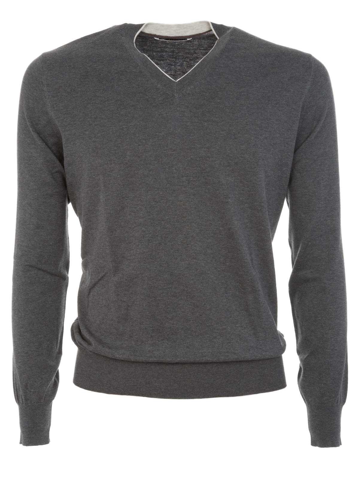 Picture of BRUNELLO CUCINELLI   V-Neck Sweater