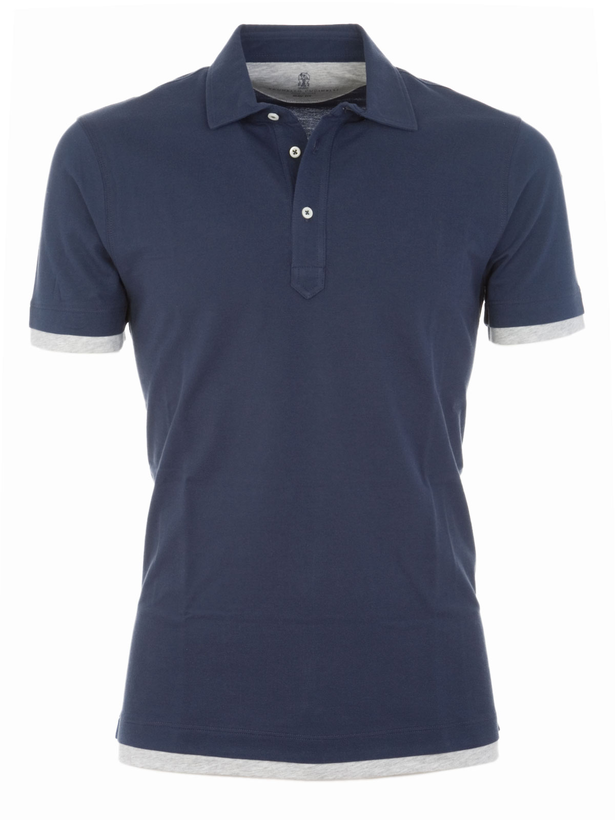 Picture of BRUNELLO CUCINELLI   Short-Sleeved Polo Shirt