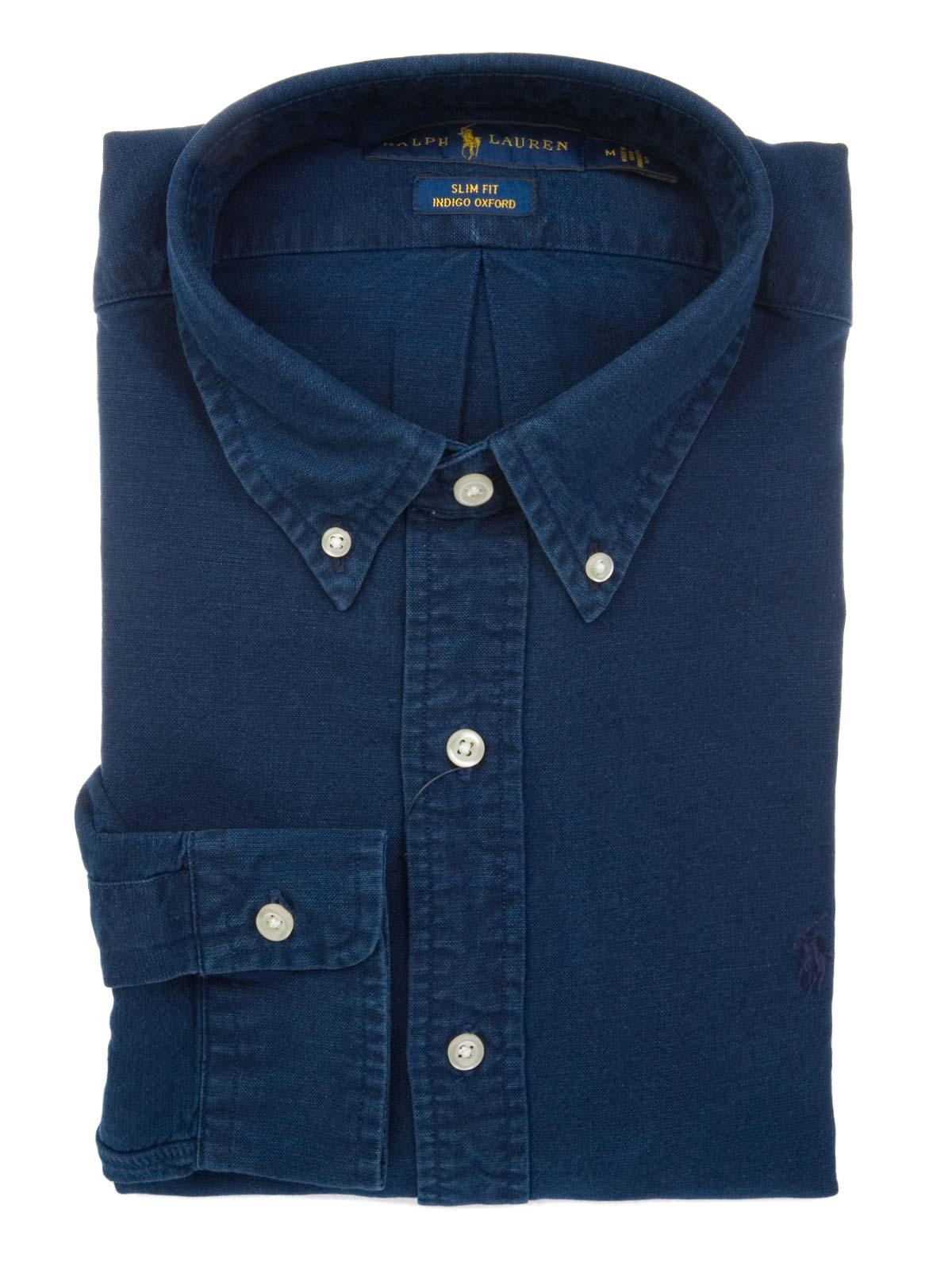 7c752ef8a RALPH LAUREN Indigo Oxford Shirt | 710672877005 | Botta & B Online Store