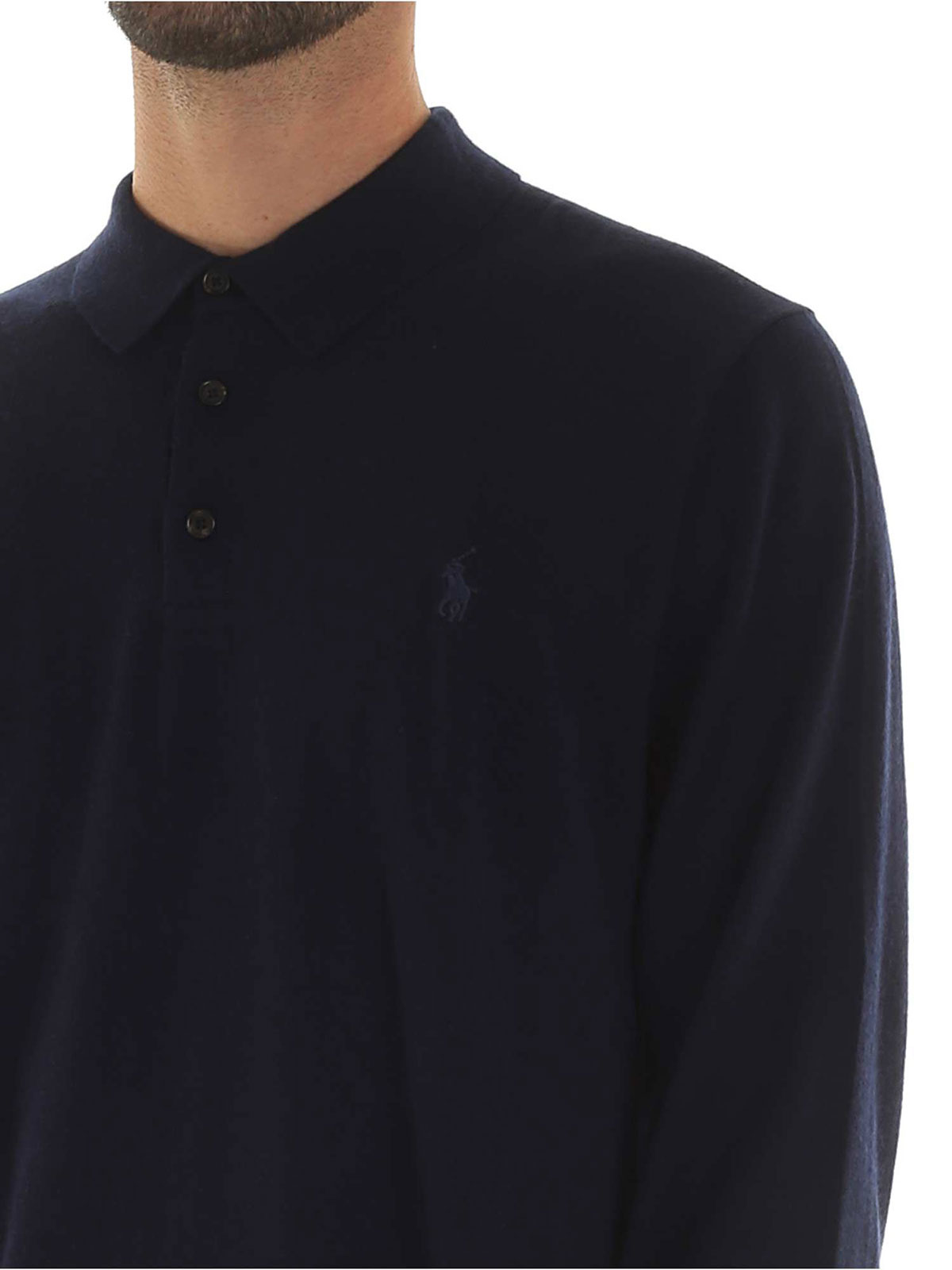 Picture of POLO RALPH LAUREN | Men's Wool Long Sleeves Polo Shirt