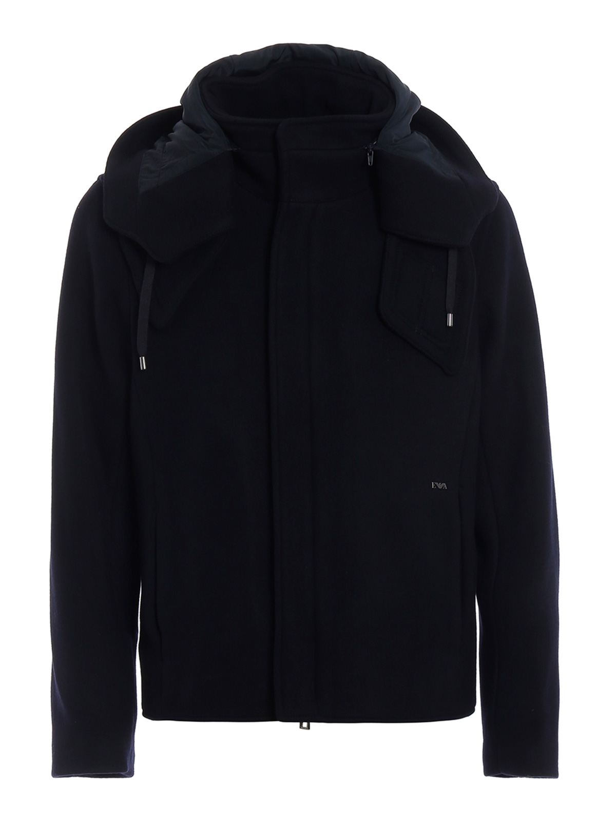 Picture of EMPORIO ARMANI | Men's Wool Hooded Jacket