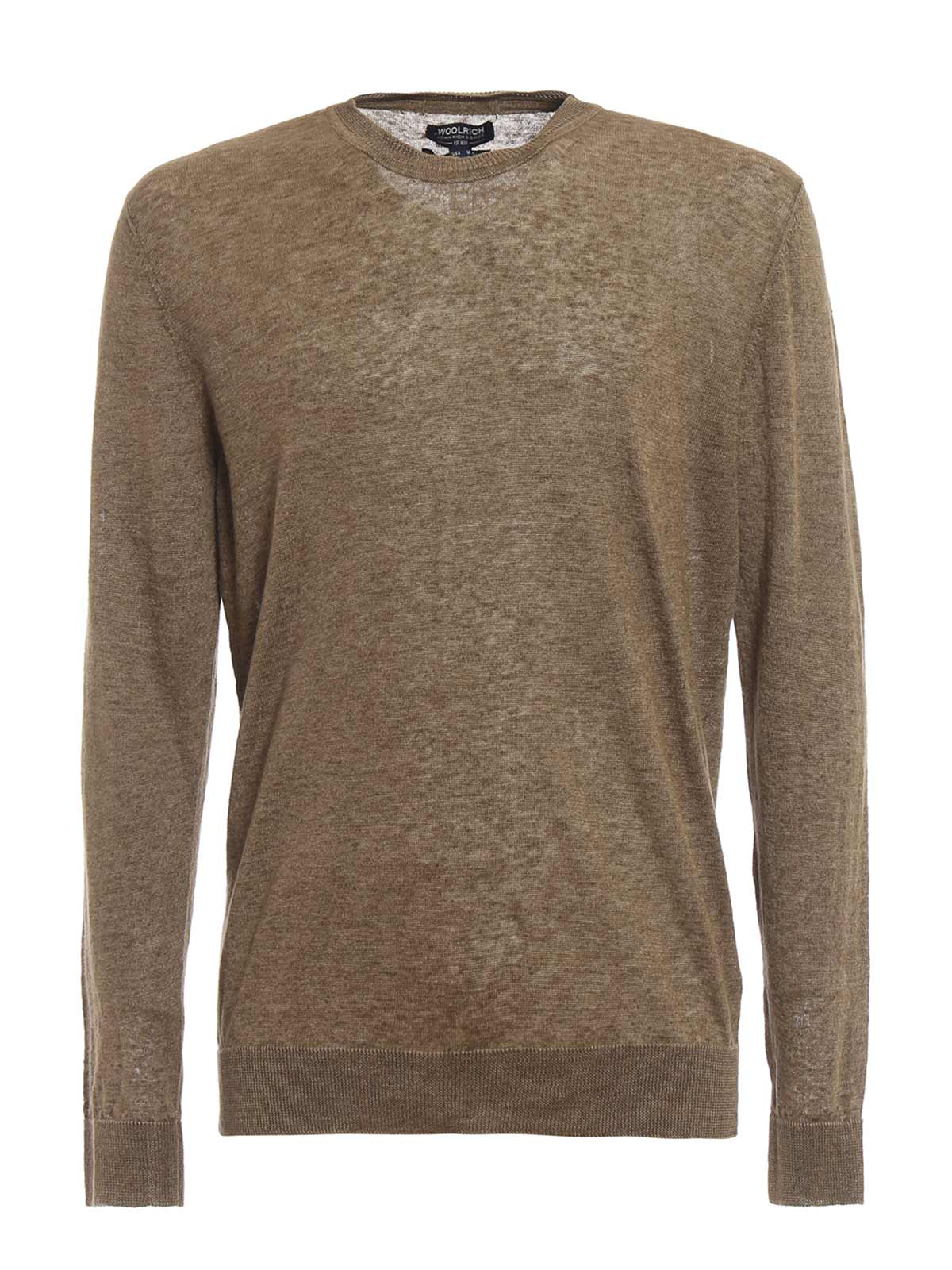 Picture of WOOLRICH | Men's Linen Crewneck Sweater