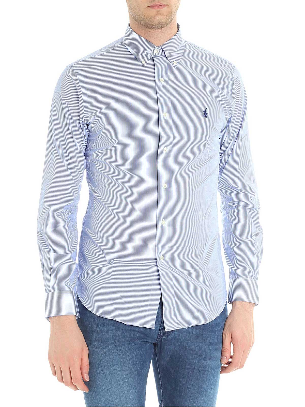 promo code b2871 07273 POLO RALPH LAUREN Camicia Uomo Slim Fit a Righe