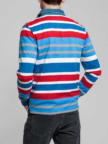 Picture of GANT   Men's Multi Stripe Rugby Shirt