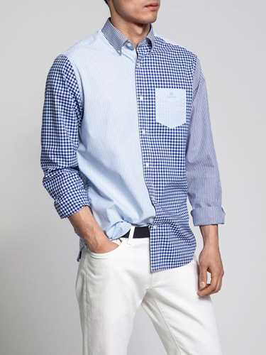 Picture of GANT | Men's Mixed Panels Regular Fit Shirt