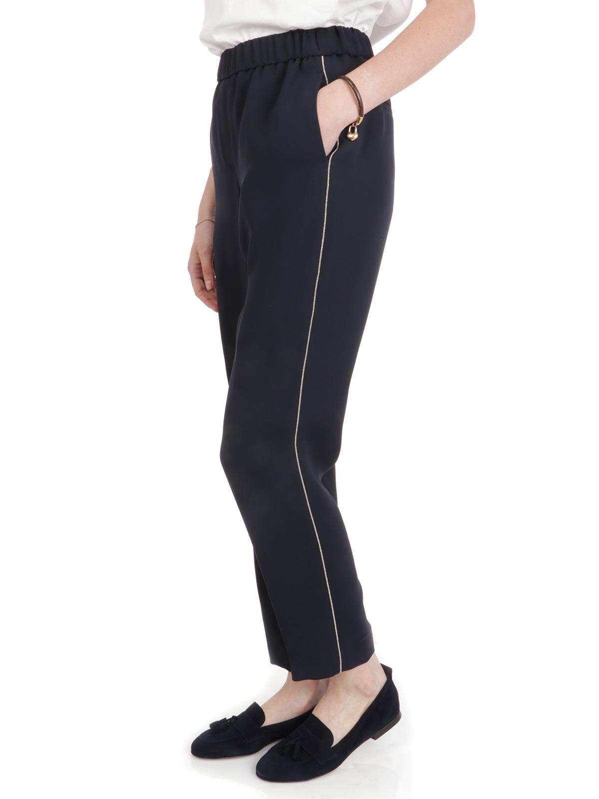 Picture of Peserico | Trousers Pantalone Con Elastico In Vita