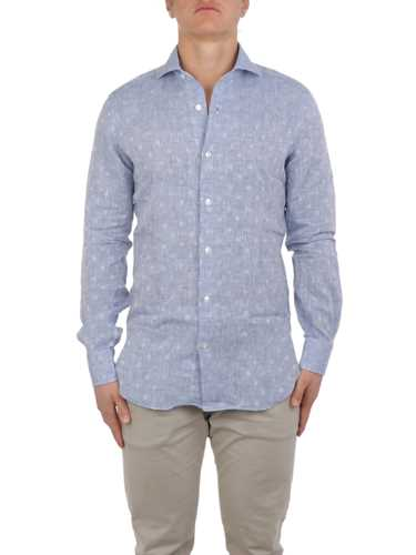 Picture of BARBA | Men's Linen Dotted Shirt