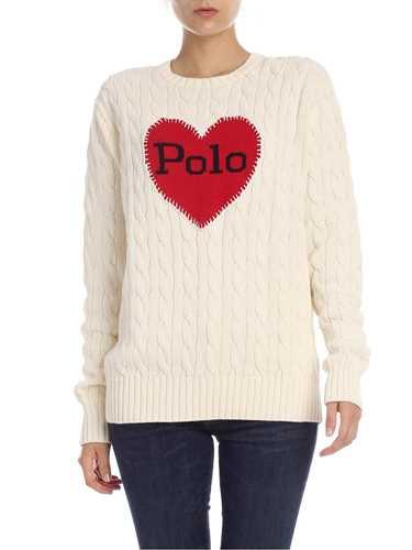 Immagine di POLO RALPH LAUREN | Pullover Donna con Ricamo Cuore