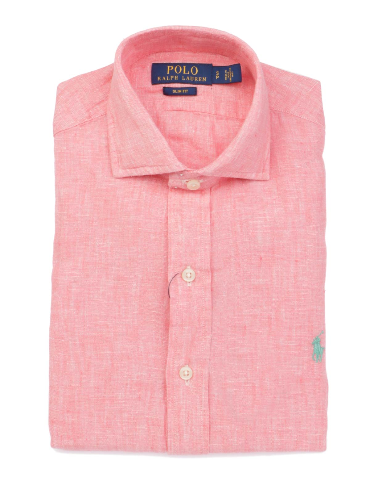 brand new b39da 4904b greece maschio ralph lauren in shirt rosa 28228 6a331
