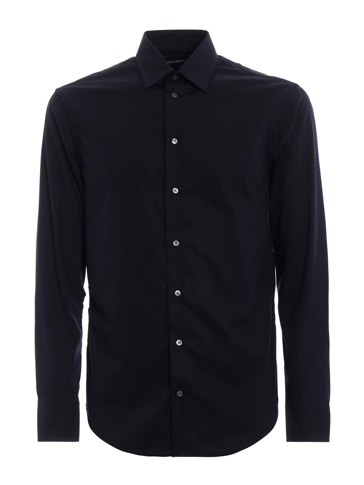 Picture of EMPORIO ARMANI | Men's Stretch Cotton Shirt