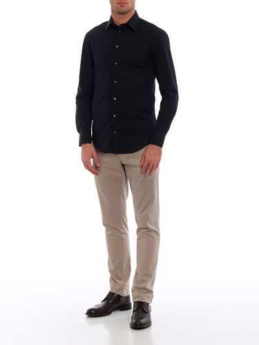 Immagine di EMPORIO ARMANI | Camicia Uomo in Cotone Stretch