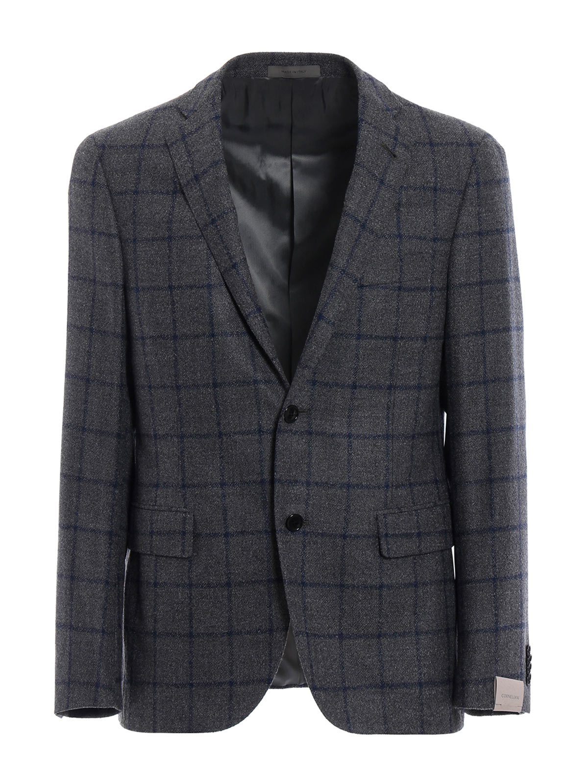 Picture of CORNELIANI | Men's Check Single-Breasted Blazer