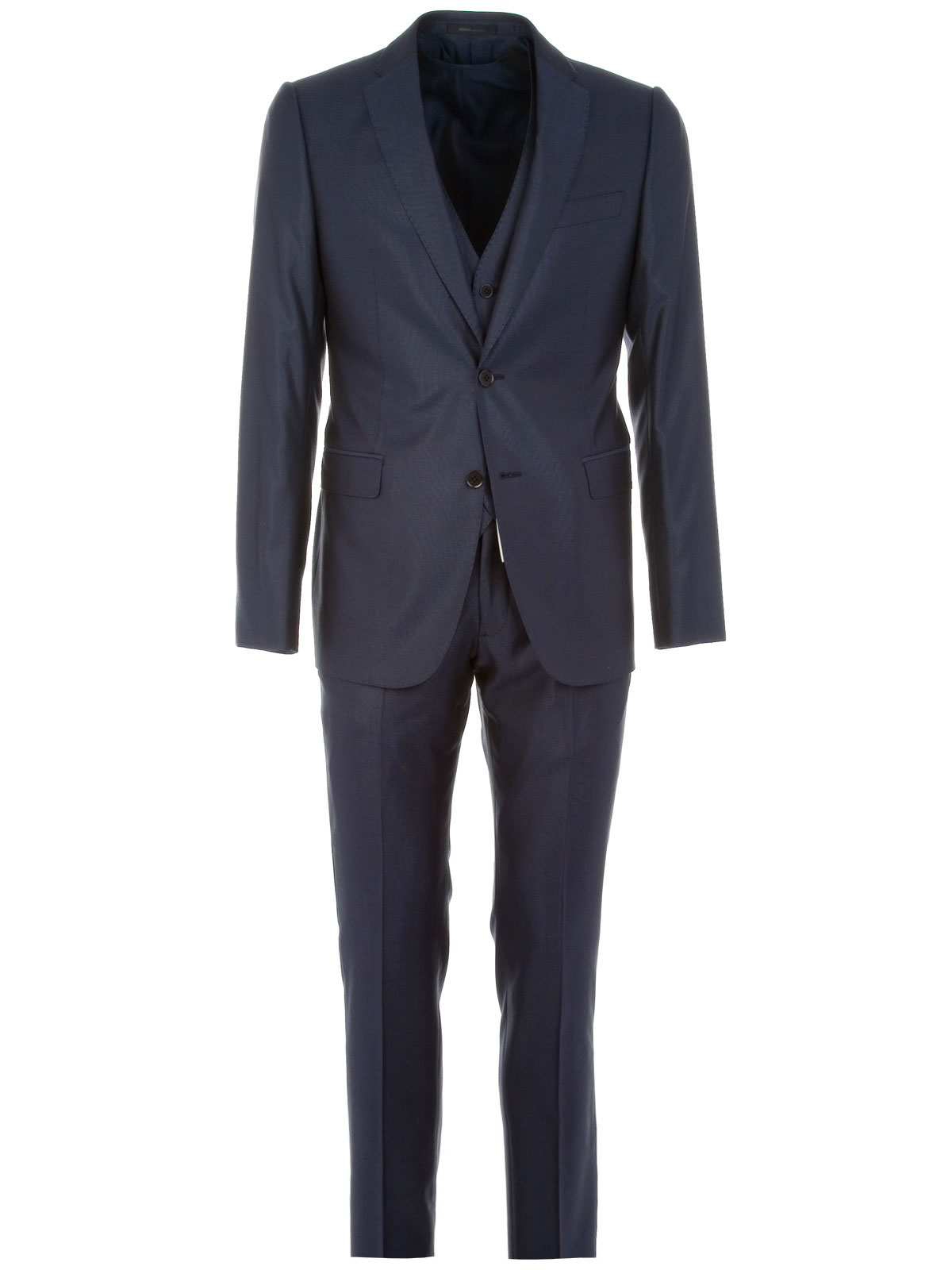 Picture of ARMANI | Suit in Virgin Wool + Vest