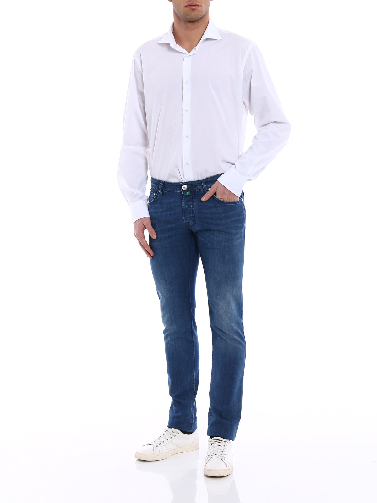 Picture of JACOB COHEN | Men's Faded Jeans