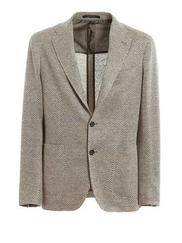 Picture of TAGLIATORE | Men's Linen Herringbone Blazer