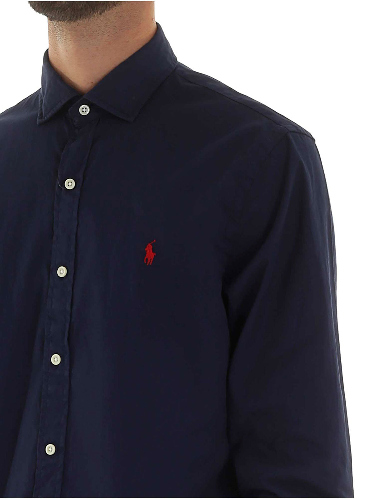 Picture of POLO RALPH LAUREN | Men's Solid Cotton Shirt