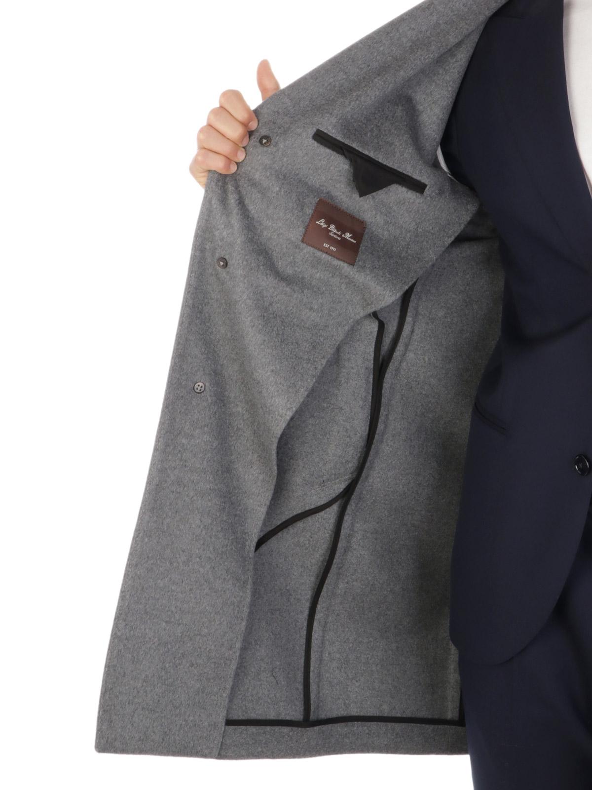 Picture of LUIGI BIANCHI MANTOVA | Men's Wool and Cashmere Coat