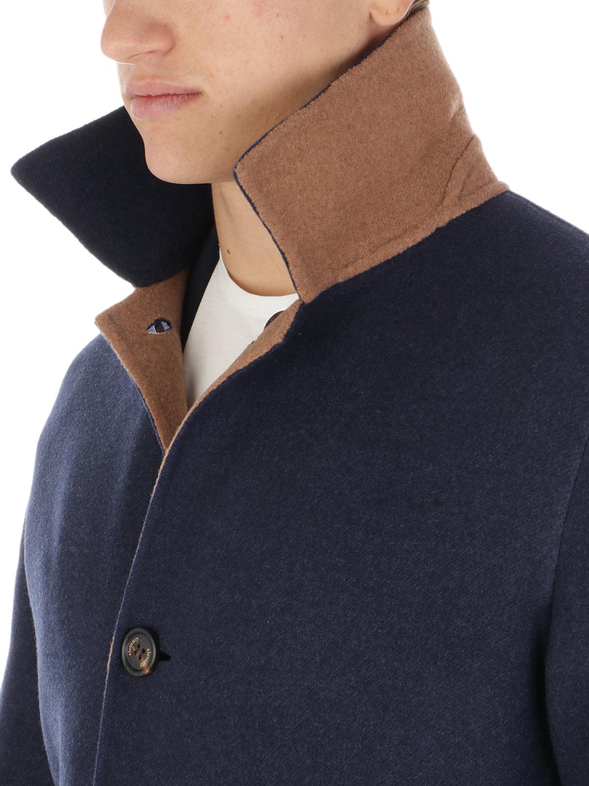 Picture of ELEVENTY | Men's Reversible Virgin Wool Coat