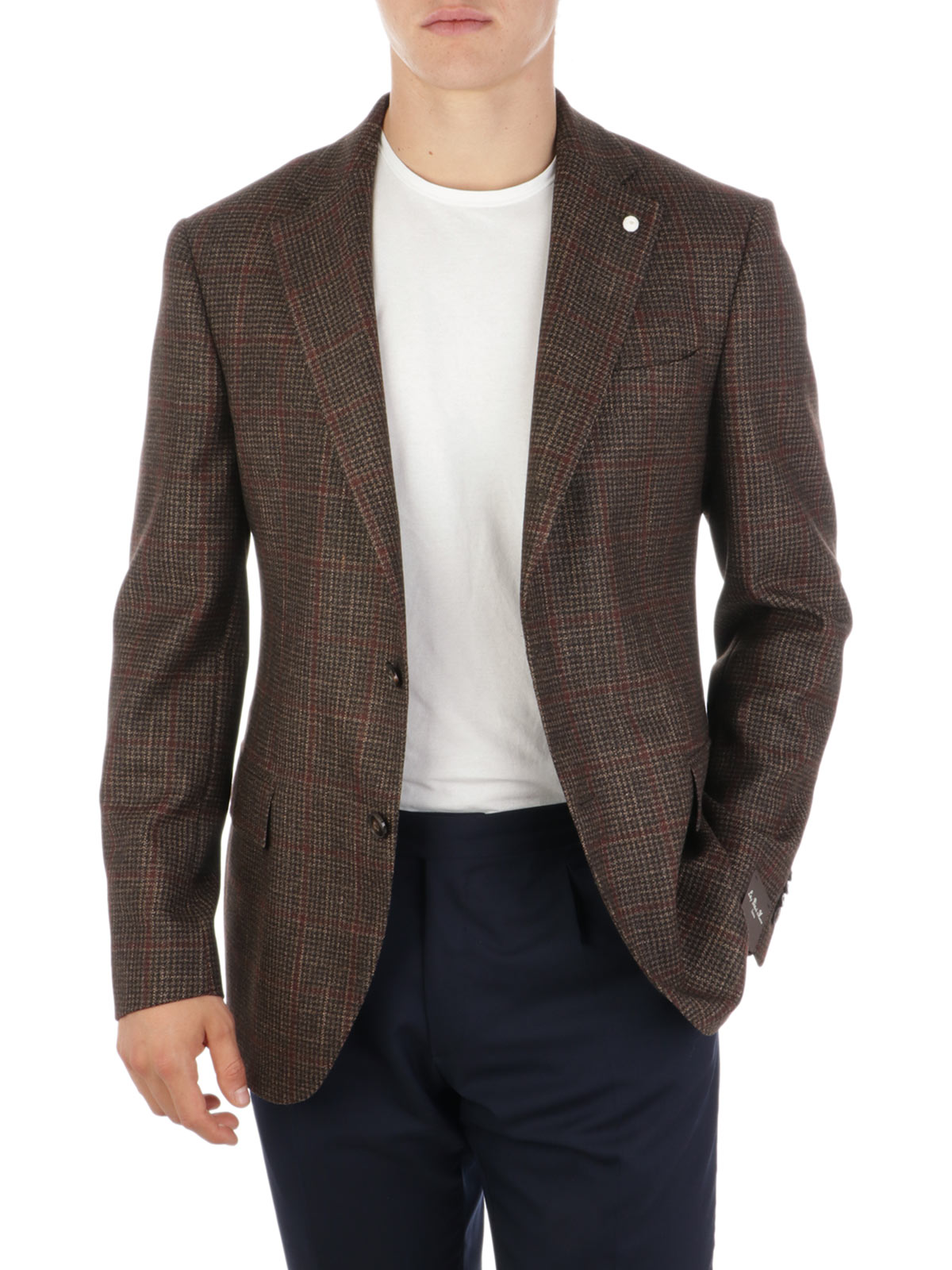 Picture of LUIGI BIANCHI MANTOVA | Men's Wool and Silk Blazer