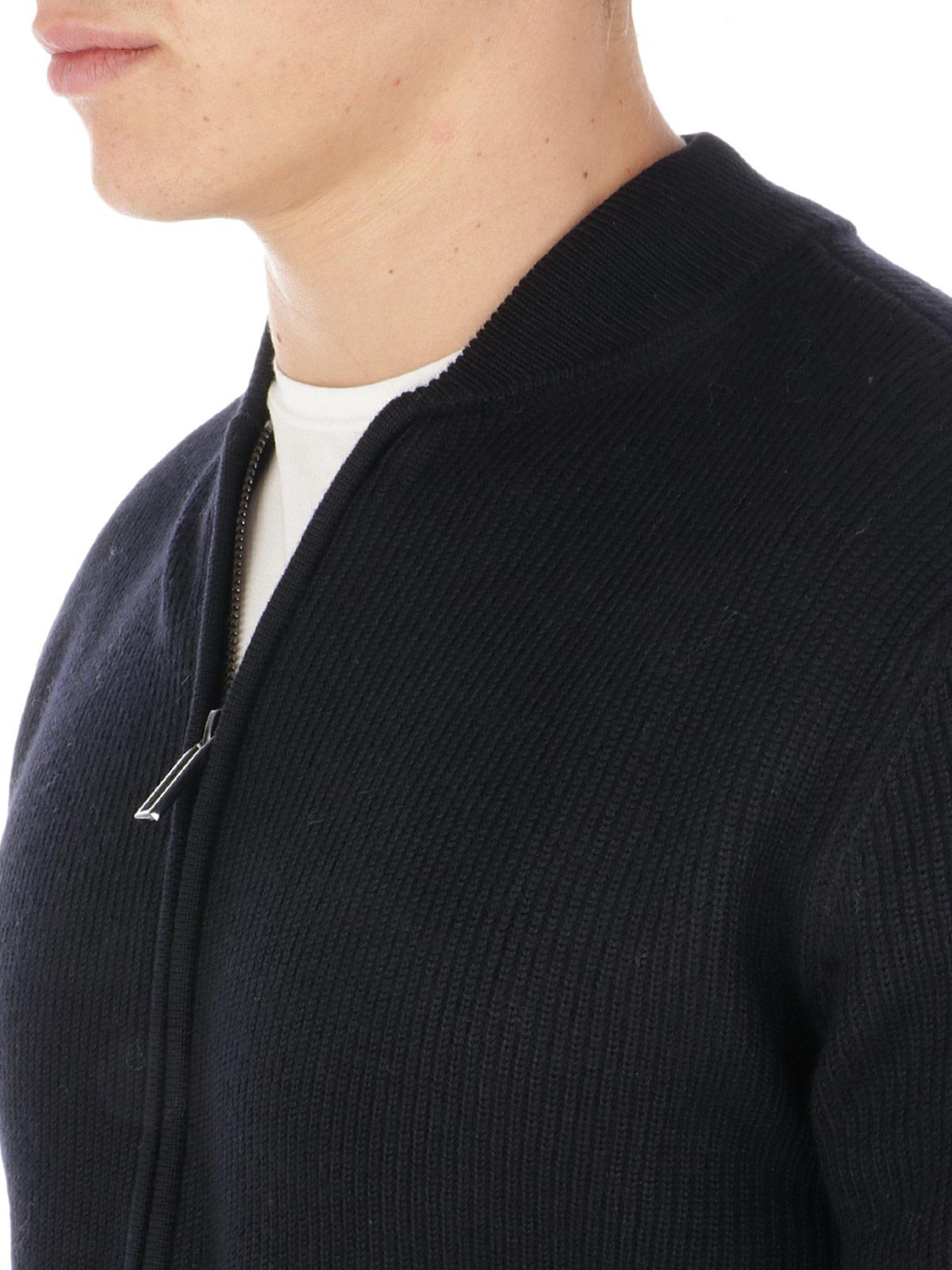 Picture of EMPORIO ARMANI   Men's Virgin Wool Cardigan
