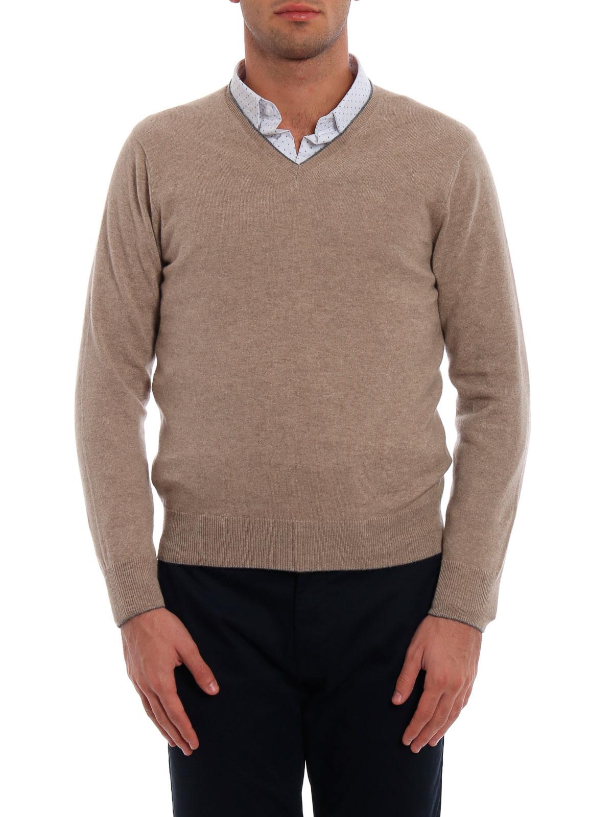 buy popular da9c3 e8eda CRUCIANI Pullover Cashmere Uomo Scollo a V