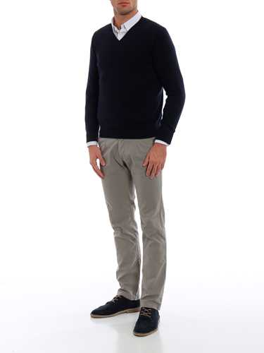 Picture of CRUCIANI | Men's Cashmere V-Neck Sweater
