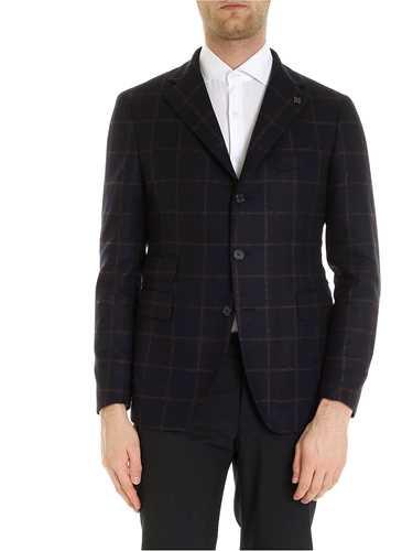Picture of TAGLIATORE | Men's Checked Wool Blazer