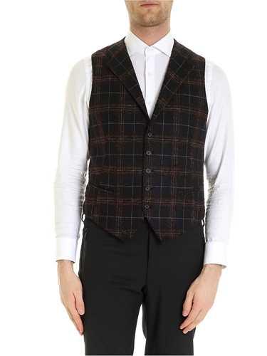 Picture of TAGLIATORE | Men's Dennis Checked Vest