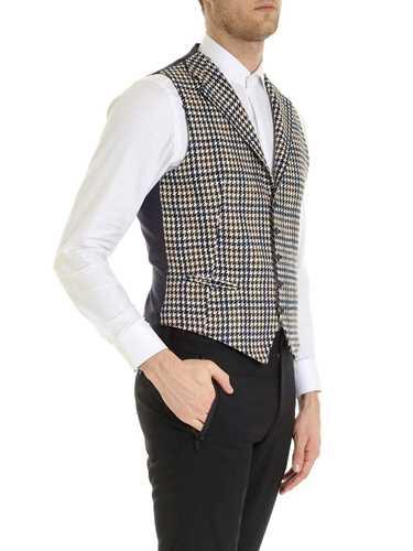 Picture of TAGLIATORE | Men's Dennis Houndstooth Vest
