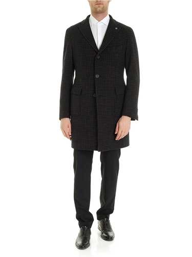 Picture of TAGLIATORE | Men's Houdstooth Coat