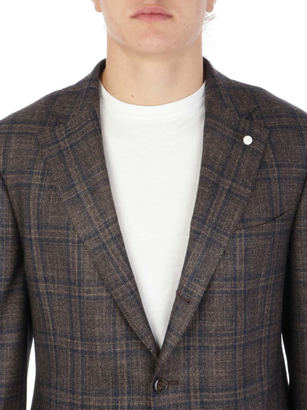 Picture of LUBIAM | Men's Virgin Wool Checked Blazer