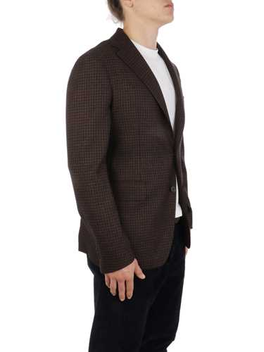 Picture of TAGLIATORE | Men's Houndstooth Wool and Cotton Blazer