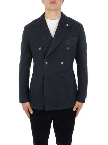 Picture of LBM 1911 | Men's Cotton Double-Breasted Blazer